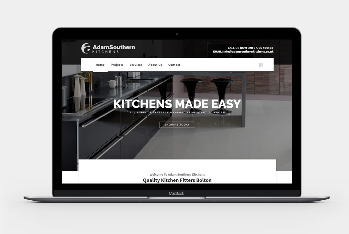 Adam Southern Kitchens New Website Design Bolton Dootsondesigns