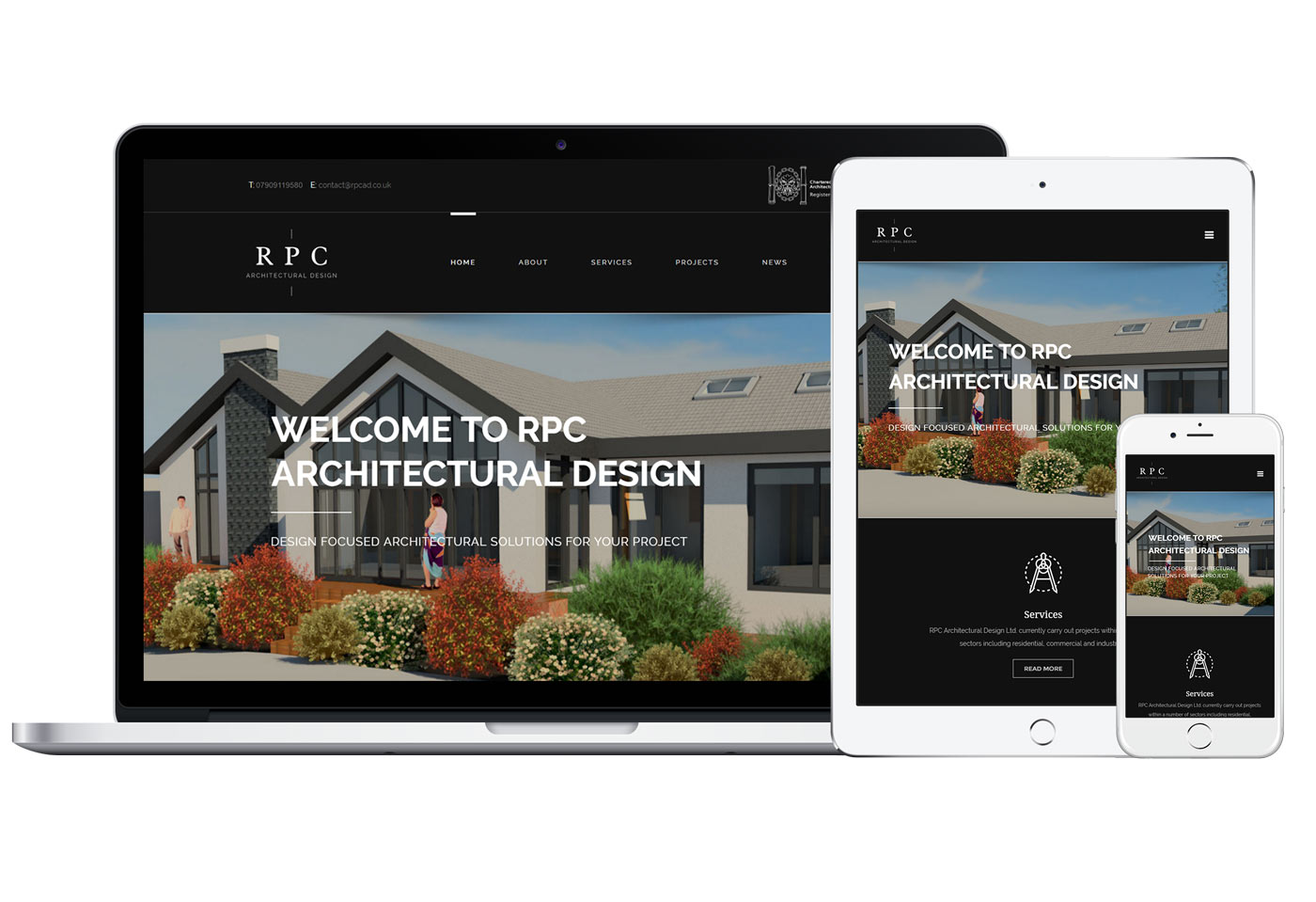 Rpc architectural design website design responsive for Architectural websites