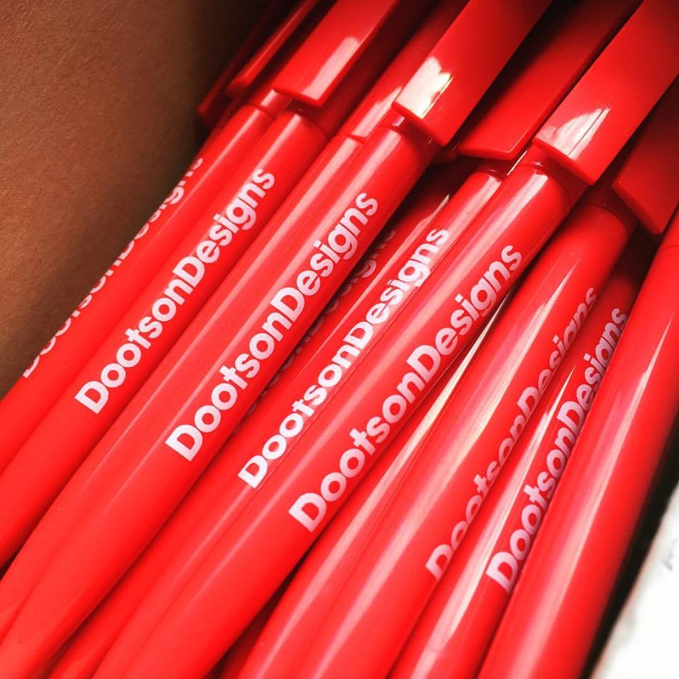Our lovely new branded pens